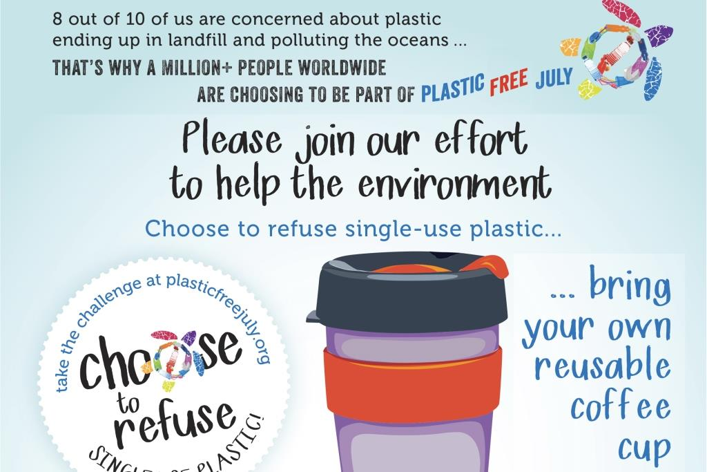 Plastic free July poster
